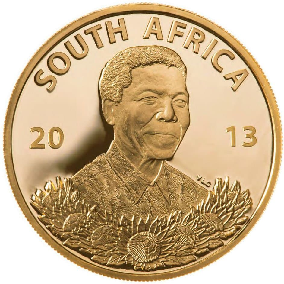 r5a - 2013 South African Gold R5 'roof 'Life of a Legend Series' -Nelson Mandela 3.11 gms