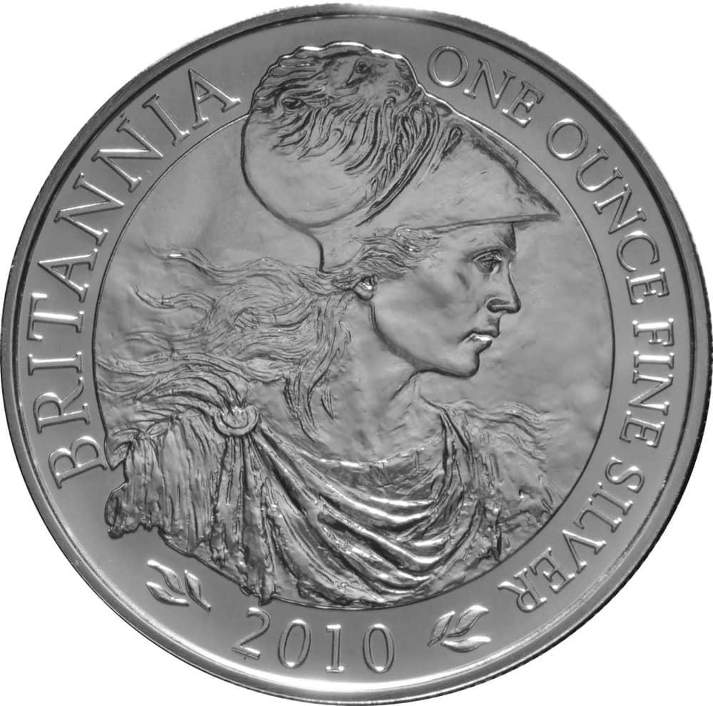2010 - 2010 1oz Fine Silver £2 Proof Britannia Coin #21