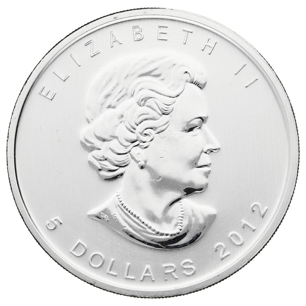 2012 - 2012 Fine 999.9 Silver Proof 1oz Canadian Maple $5 Dollars Bullion Coin #21