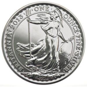 2013 1oz Fine Silver £2 Britannia Coin Bullion #21