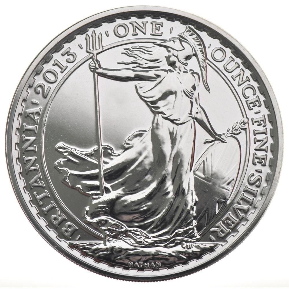 2013 1 - 2013 1oz Fine Silver £2 Britannia Coin Bullion #21