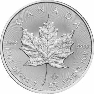 2016 Fine 999.9 Silver Proof 1oz Canadian Maple $5 Dollars Bullion Coin #21