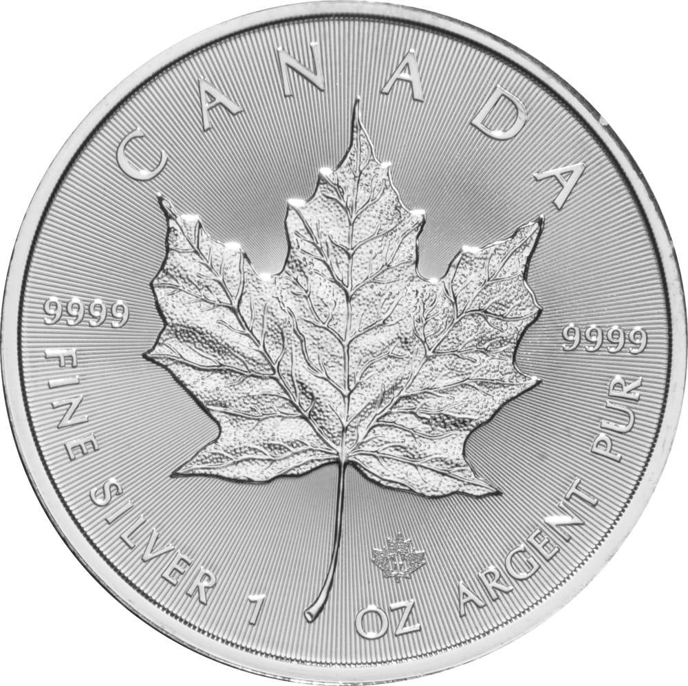 2014 - 2015 Fine 999.9 Silver Proof 1oz Canadian Maple $5 Dollars Bullion Coin #21