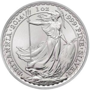 2014 1oz Fine Silver £2 Britannia Coin Bullion #21