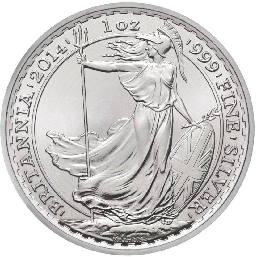2014a 1 - 2014 1oz Fine Silver £2 Britannia Coin Bullion #21