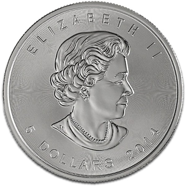 2014 Fine 999.9 Silver Proof 1oz Canadian Maple $5 Dollars Bullion Coin #21