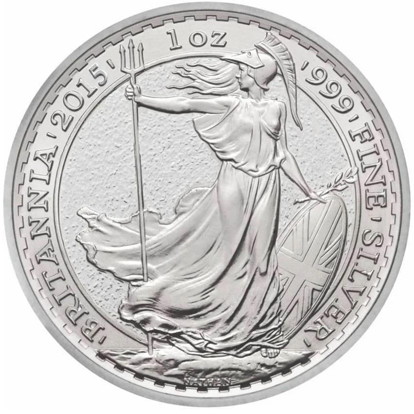 2015 1 - 2015 1oz Fine Silver £2 Britannia Coin Bullion #21