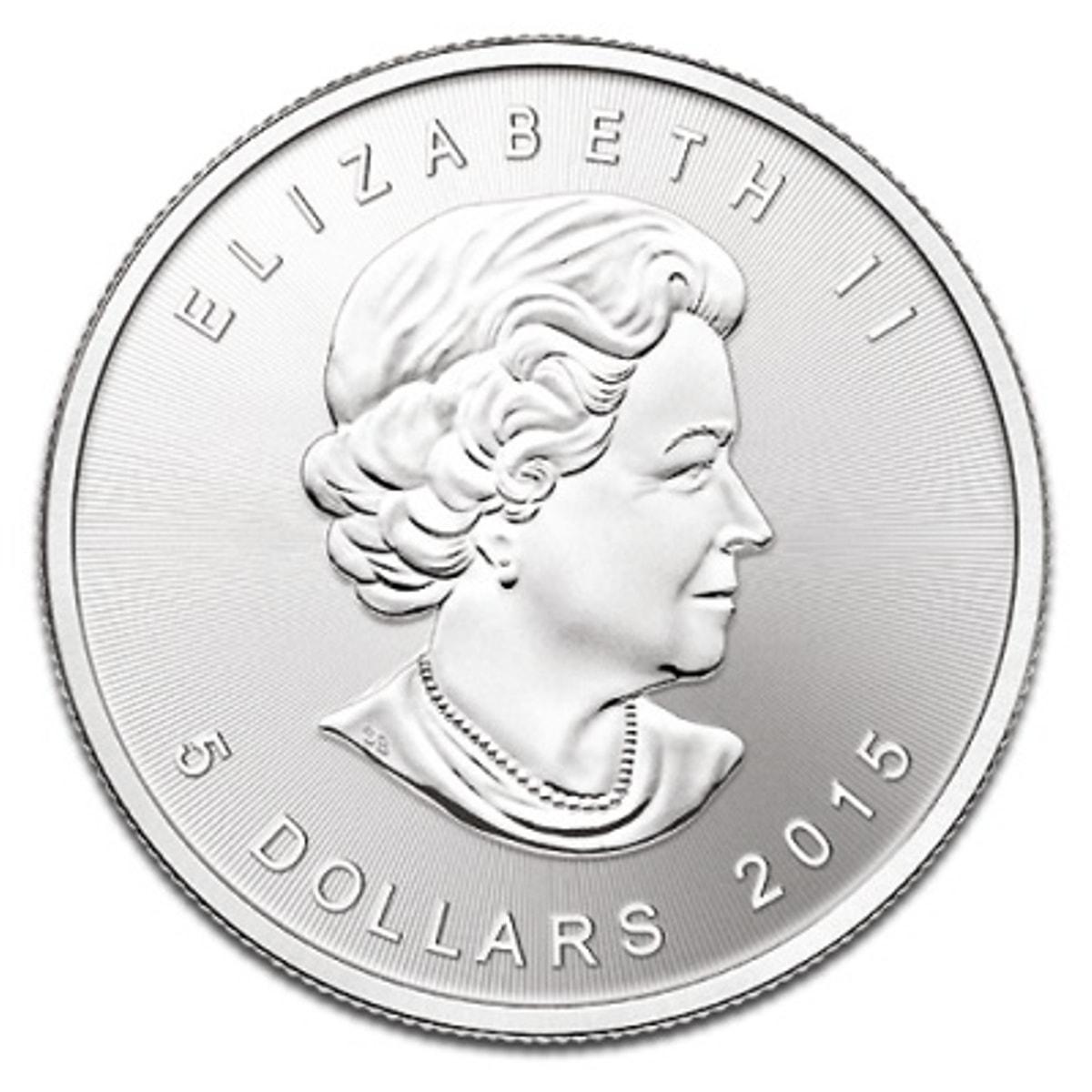 2015 - 2015 Fine 999.9 Silver Proof 1oz Canadian Maple $5 Dollars Bullion Coin #21