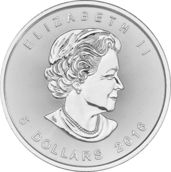 2015 Fine 999.9 Silver Proof 1oz Canadian Maple $5 Dollars Bullion Coin #21