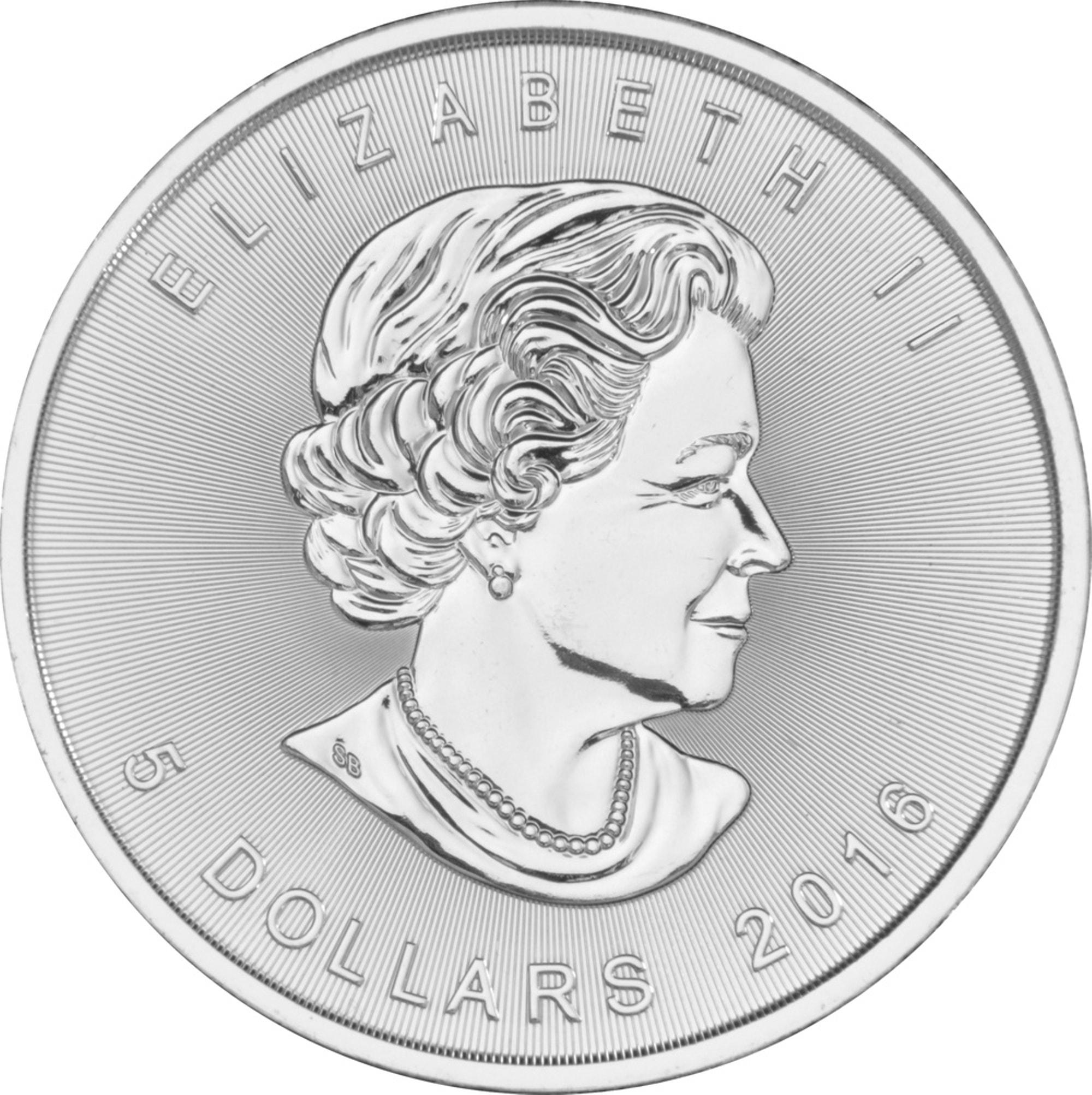 2016 2 - 2016 Fine 999.9 Silver Proof 1oz Canadian Maple $5 Dollars Bullion Coin #21