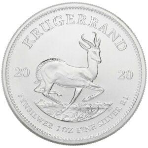 2020 Fine 999.9 Silver 1oz South Africa Krugerrand 1R One Rand Bullion Coin #25