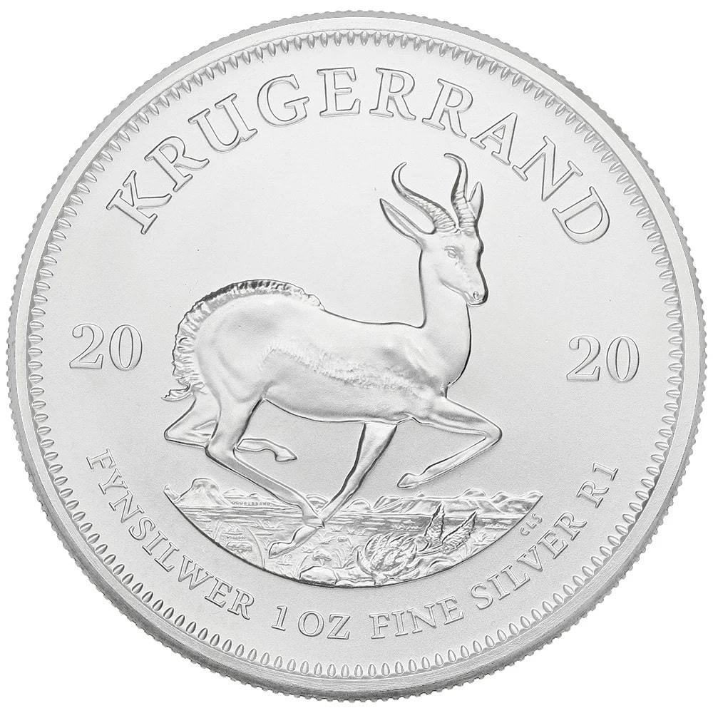 2020 kruger - 2020 Fine 999.9 Silver 1oz South Africa Krugerrand 1R One Rand Bullion Coin #25