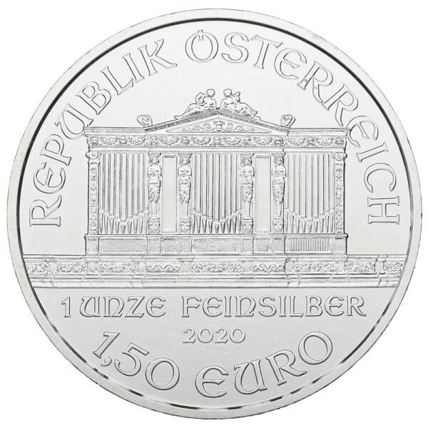 2020 1oz Austrian Philharmonic Fine Silver 999.9 Coin #25
