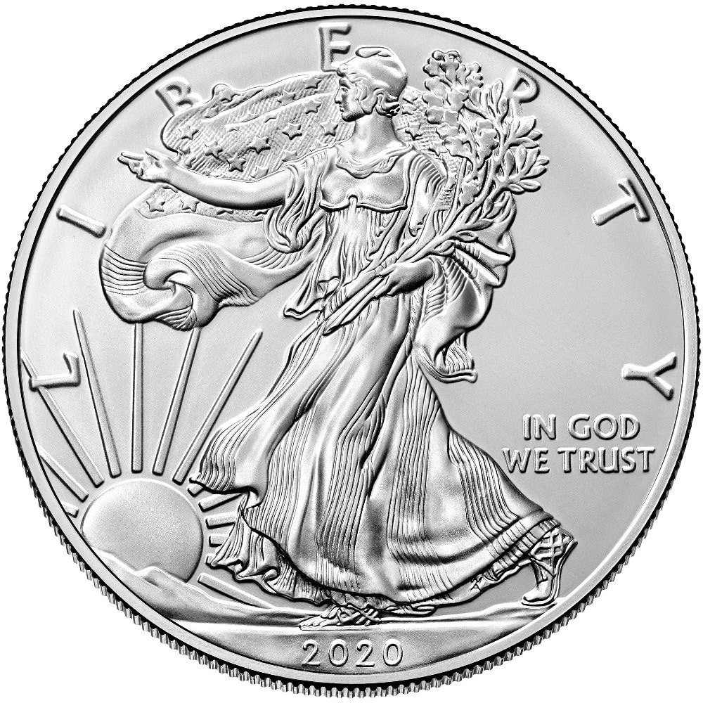 2020lib - 2020 Fine 999.9 Silver Proof 1oz American Liberty $1 One Dollar Bullion Coin #25