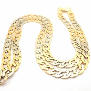 "AA000680 scaled 300x300 - 18ct Two Tone Gold Fancy Flat Linked Curb Chain Lobster Claw Clasp 20"" - 33.3 gms #5311"