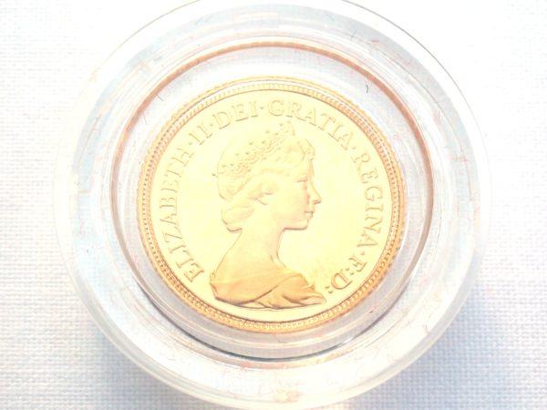 1980 Proof Gold Half Sovereign Red Boxed 22k Elizabeth II 2nd Portrait #175