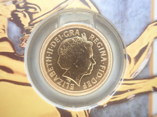 2000 Proof Gold Half Sovereign 22k Elizabeth II 4th Portrait #175