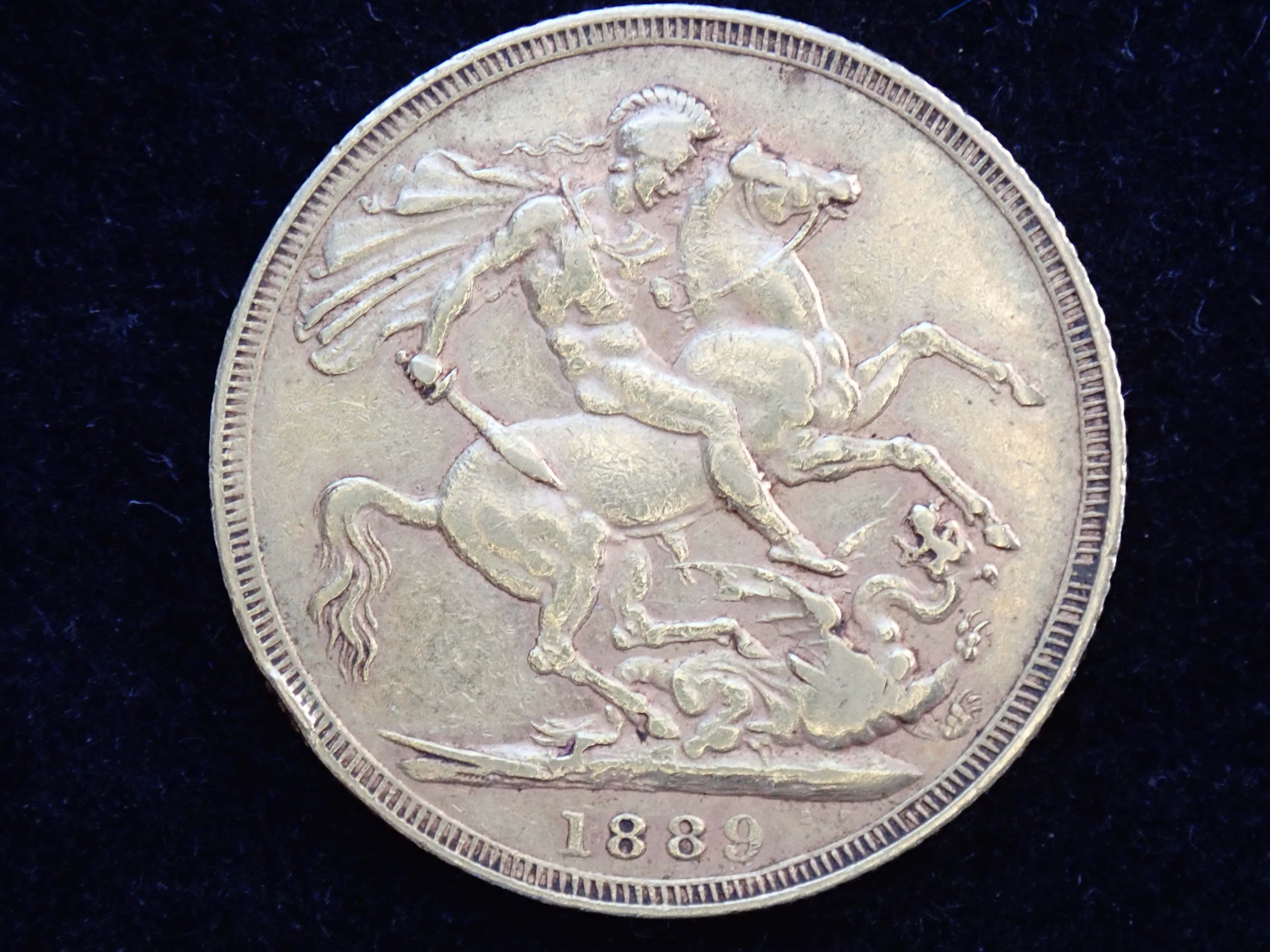 AA000794 - 1889 Gold Coin Sovereign - Queen Victoria Jubilee Head - London Minted #300B