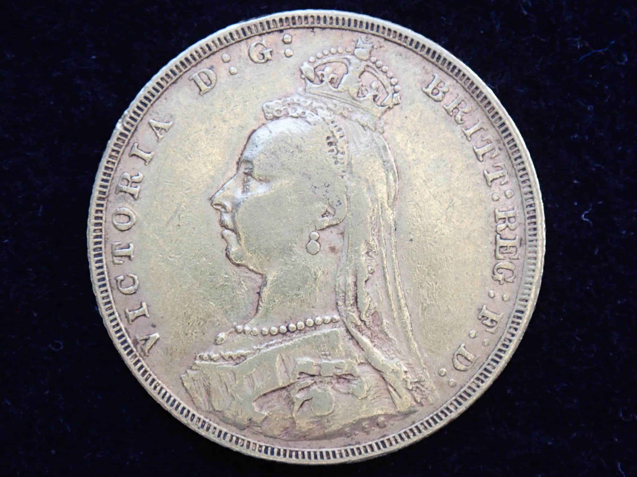 1889 Gold Coin Sovereign – Queen Victoria Jubilee Head – London Minted #300B