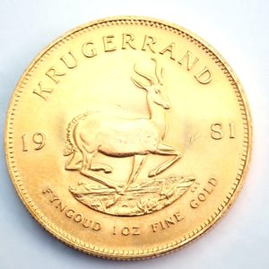 1981 Gold 999.9 1oz South Africa Krugerrand Bullion Coin #0051