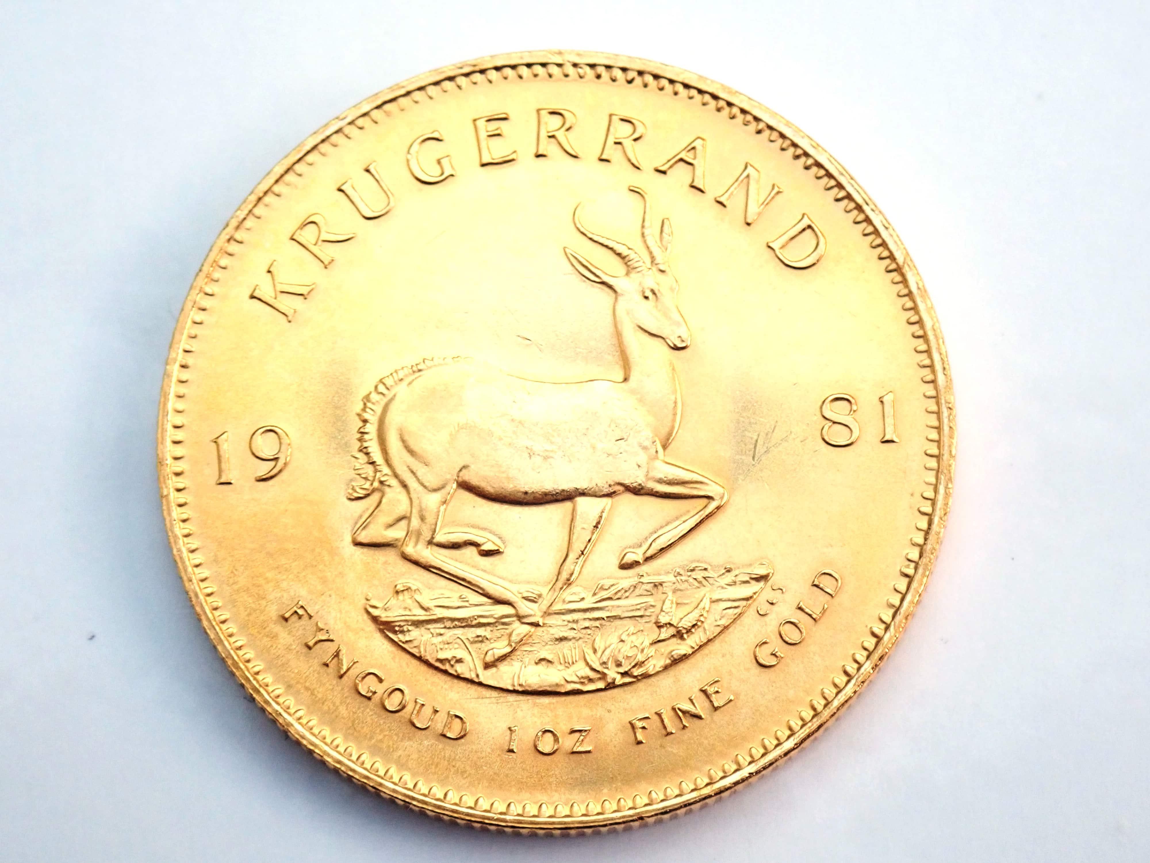 AA000800 1 - 1981 Gold 999.9 1oz South Africa Krugerrand Bullion Coin #0051