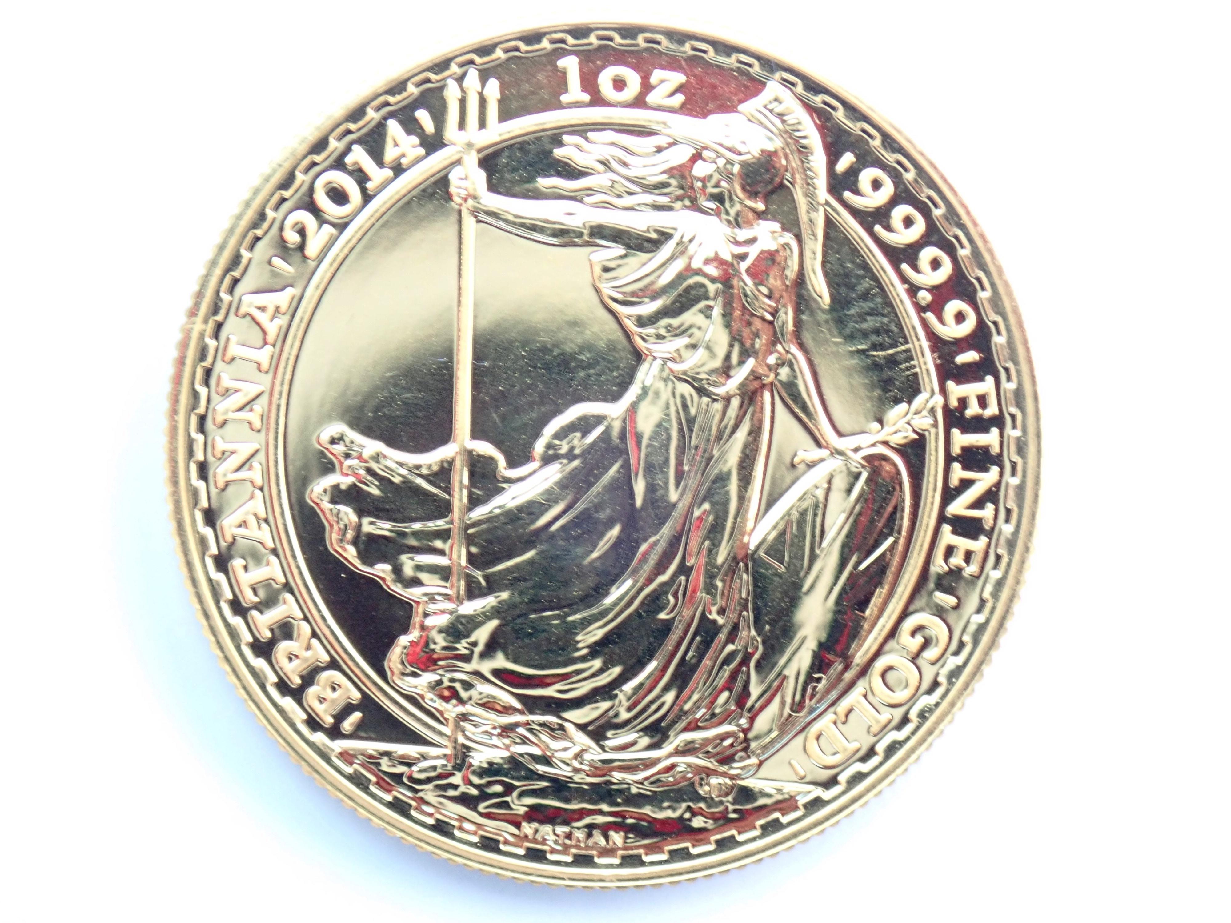 AA000804 1 - 2014 1oz Pure 999.9 Gold 24k £100 Britannia Coin Bullion #0051