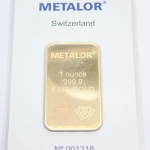 1 Troy oz Swiss Metalor 24 Carat Fine Gold 999.9 31.1grams  #