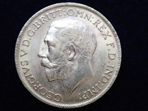 1911 Gold Full Sovereign Coin – King George V- London Mint #355