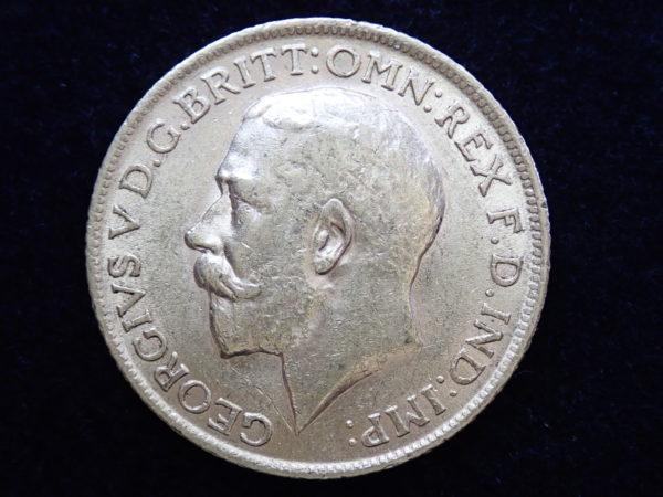 1913 Gold Full Sovereign Coin – King George V- London Mint #355