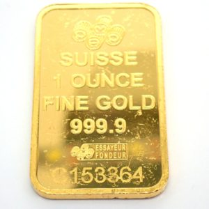 1 Troy Oz Valcambi Suisse 24 Carat Fine Gold 999.9 31.1grams Swiss #
