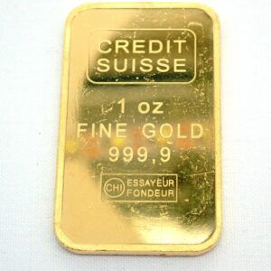 1 Troy Oz Credit Suisse 24 Carat Fine Gold 999.9 31.1grams Swiss #