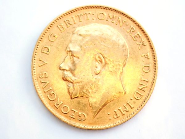 1913 Gold Half Sovereign Coin – King George V- London Mint #b193
