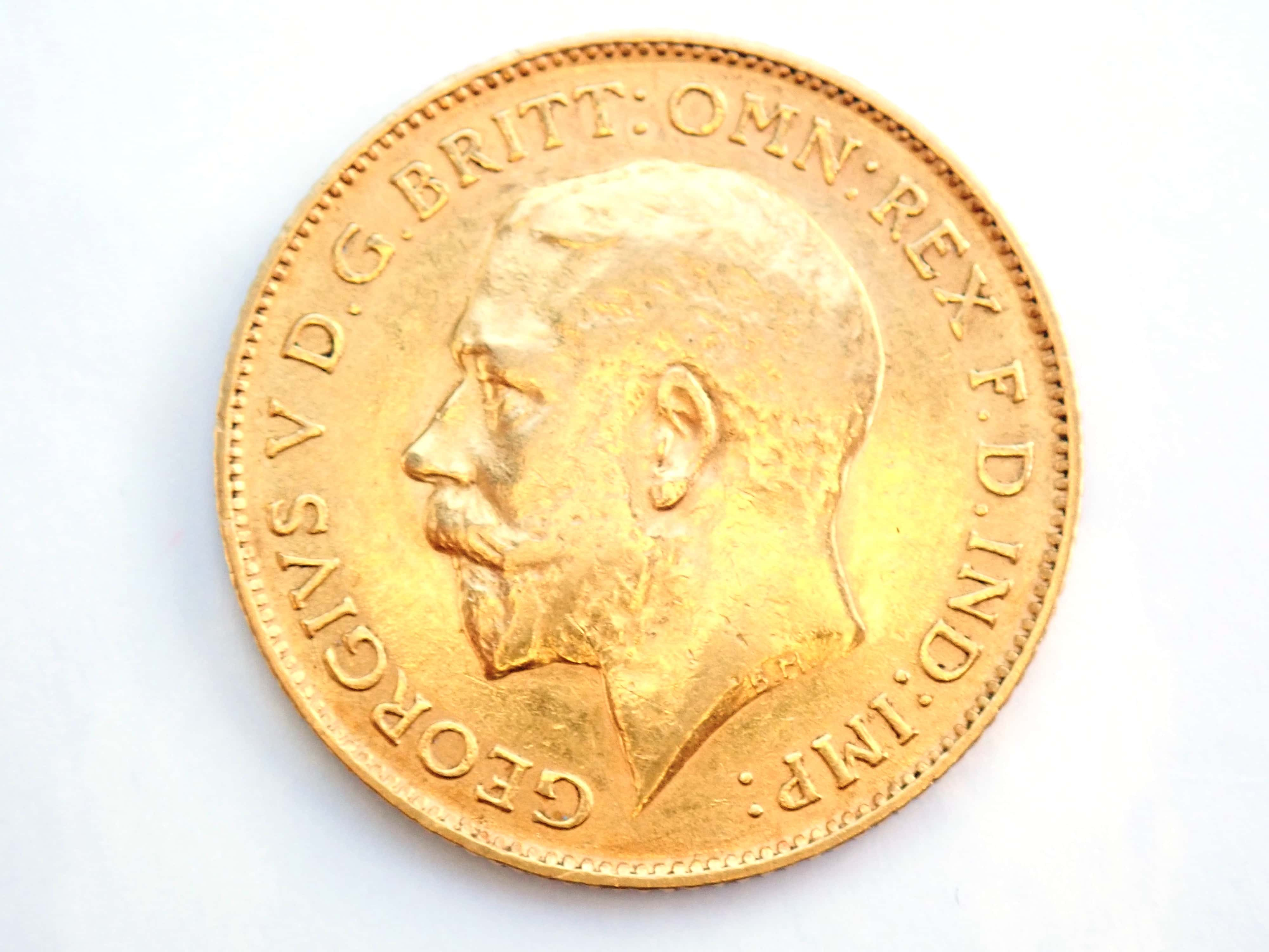 AA000825 - 1913 Gold Half Sovereign Coin - King George V- London Mint #b193