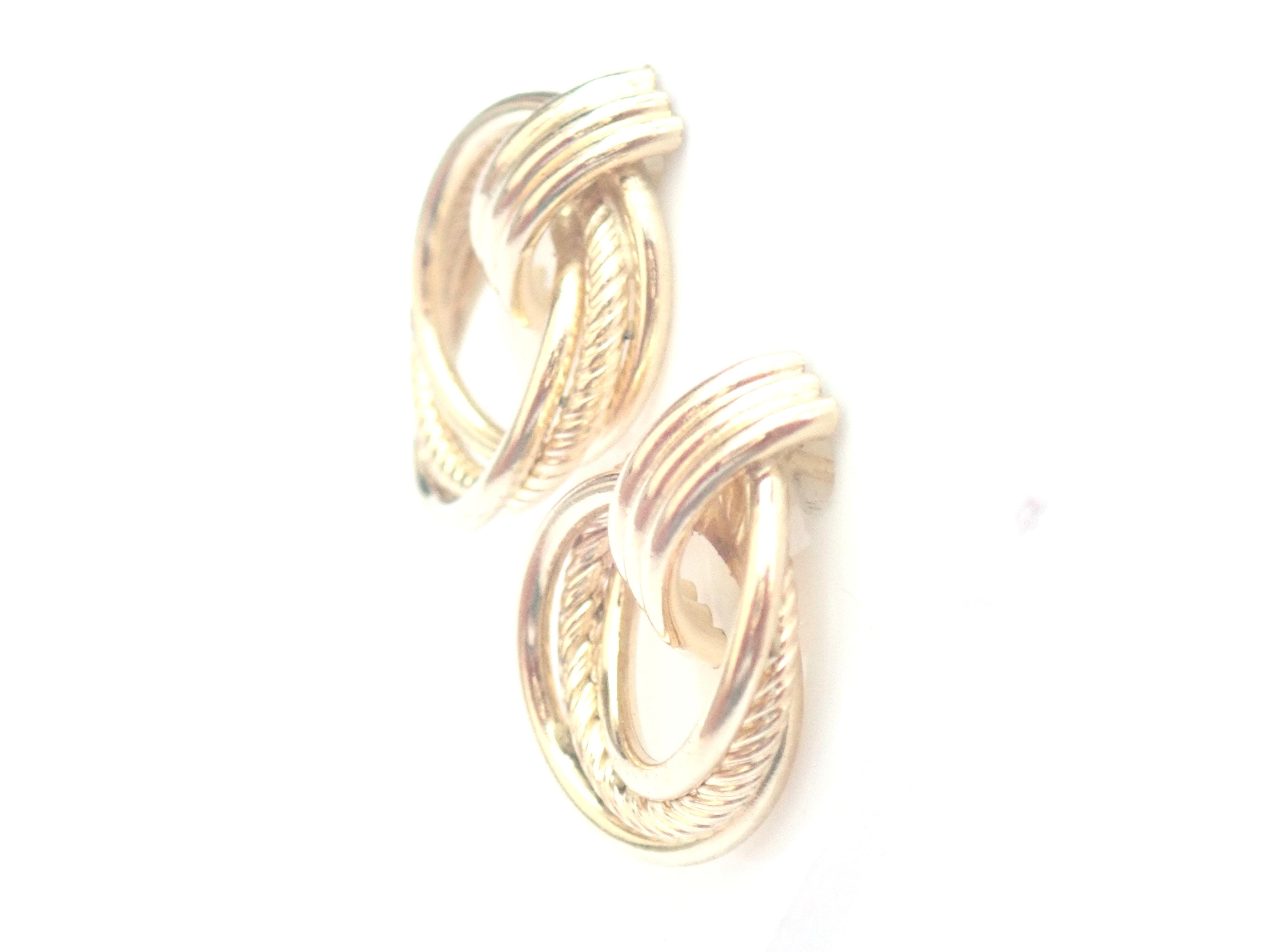 AZZ00487 - 9k 375 Yellow Gold Knot Dangly - Stud Earrings 1.8g #30