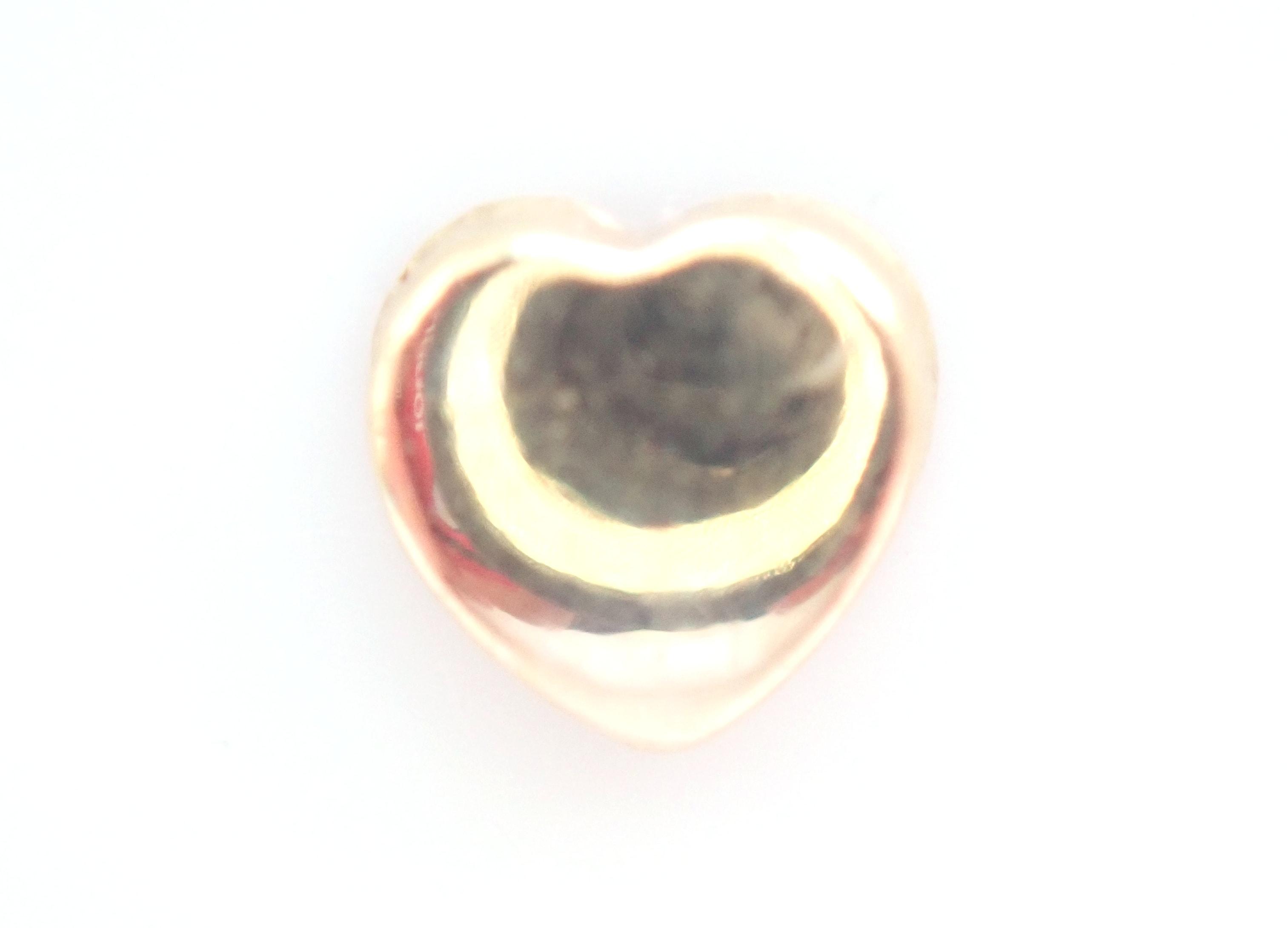 AZZ00632 - Stunning! 18k 750 Yellow Gold Heart- Earrings Butterfly Backs 0.5gms #18