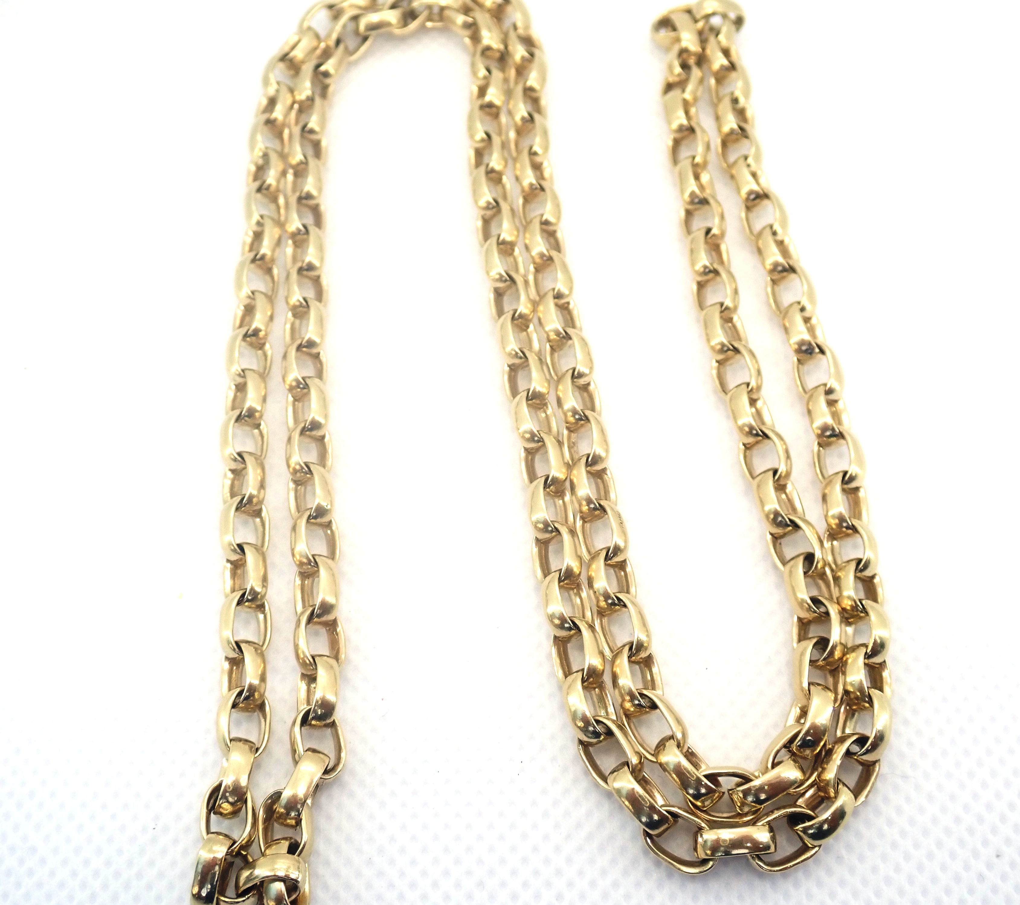 AZZ00711 - 9ct Yellow Gold Belcher Rolo chain 51gms 28 Inch #0201