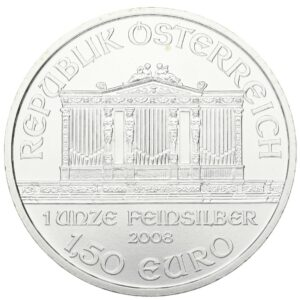2008 1oz Austrian Philharmonic Fine Silver 999.9 Coin #21