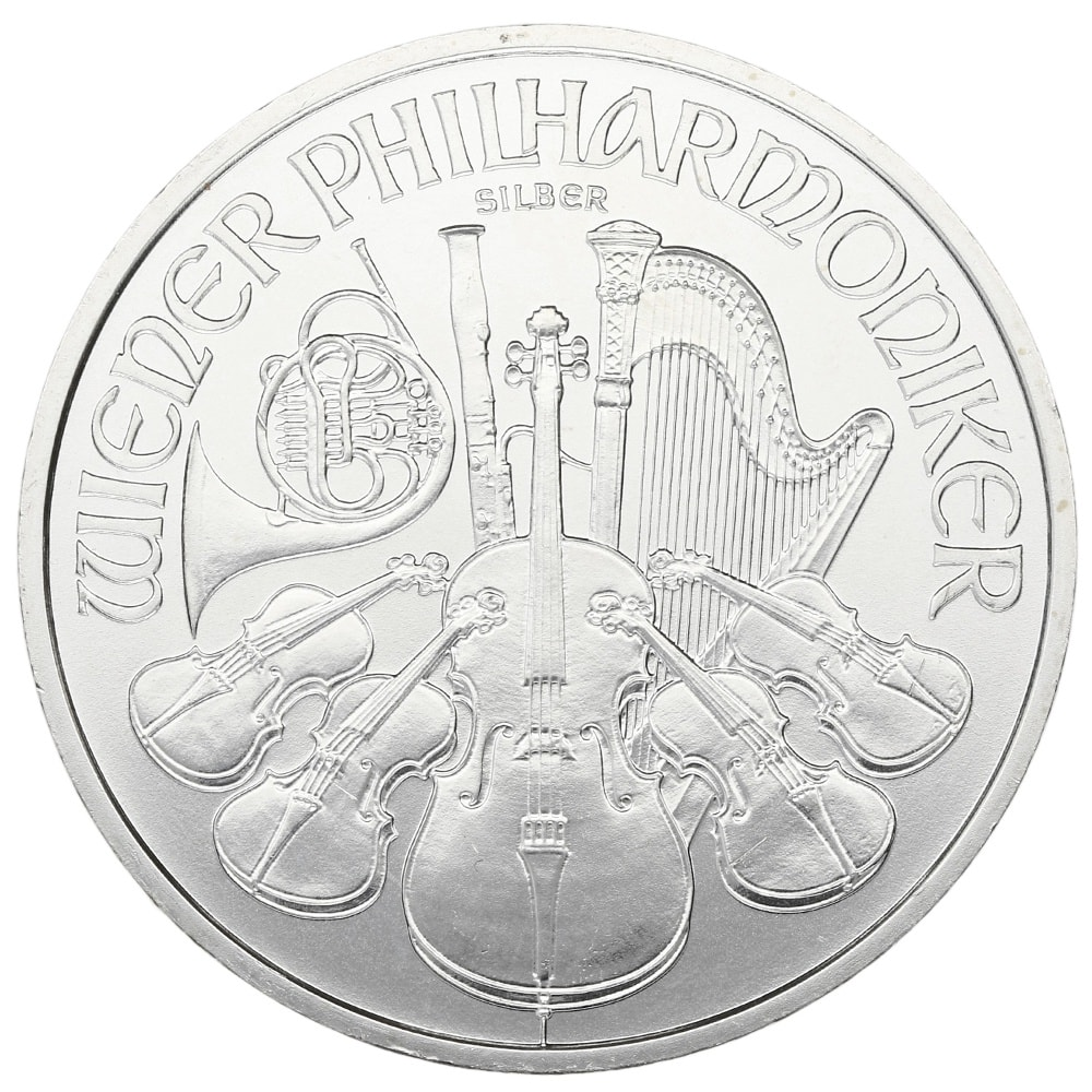 b - 2008 1oz Austrian Philharmonic Fine Silver 999.9 Coin #21