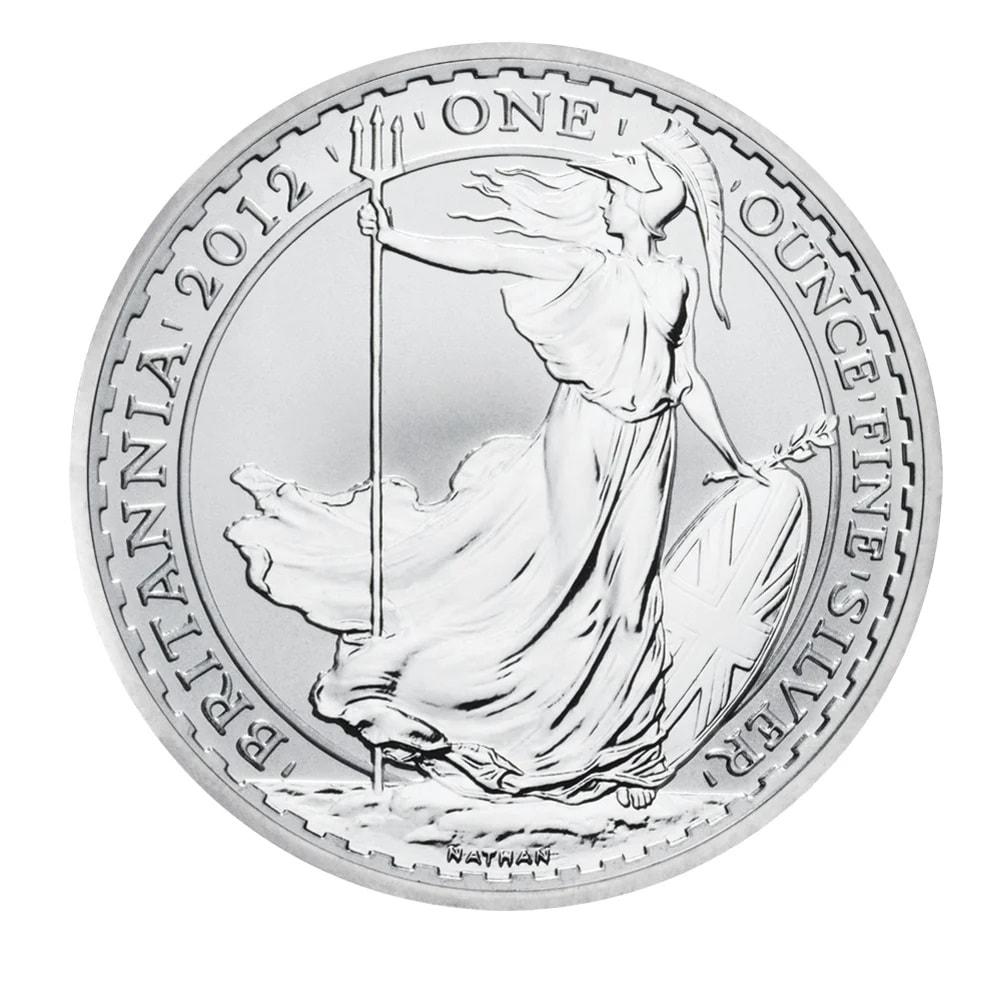 brit 2012 - 2012 1oz Fine Silver £2 Britannia Coin Bullion #21