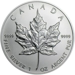 2012 Fine 999.9 Silver Proof 1oz Canadian Maple $5 Dollars Bullion Coin #21