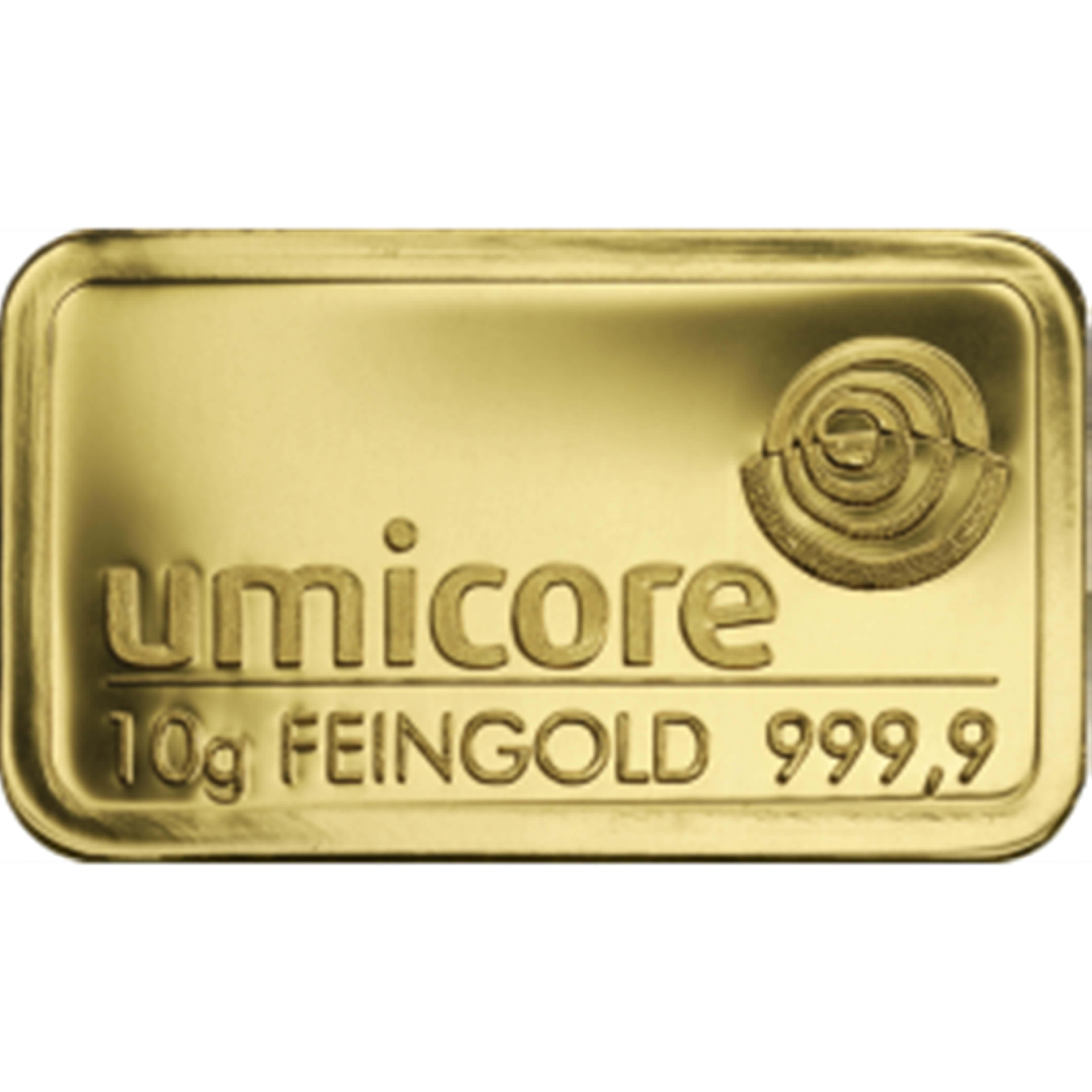 unicore 1 - 10 gram Umicore Fine Gold Bar 24 Carat 999.9 Bullion  #