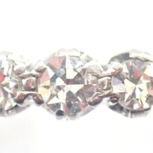 18K Gold & Platinum Trilogy Diamond 0.30ct Ring Size Q  2.0gms #70