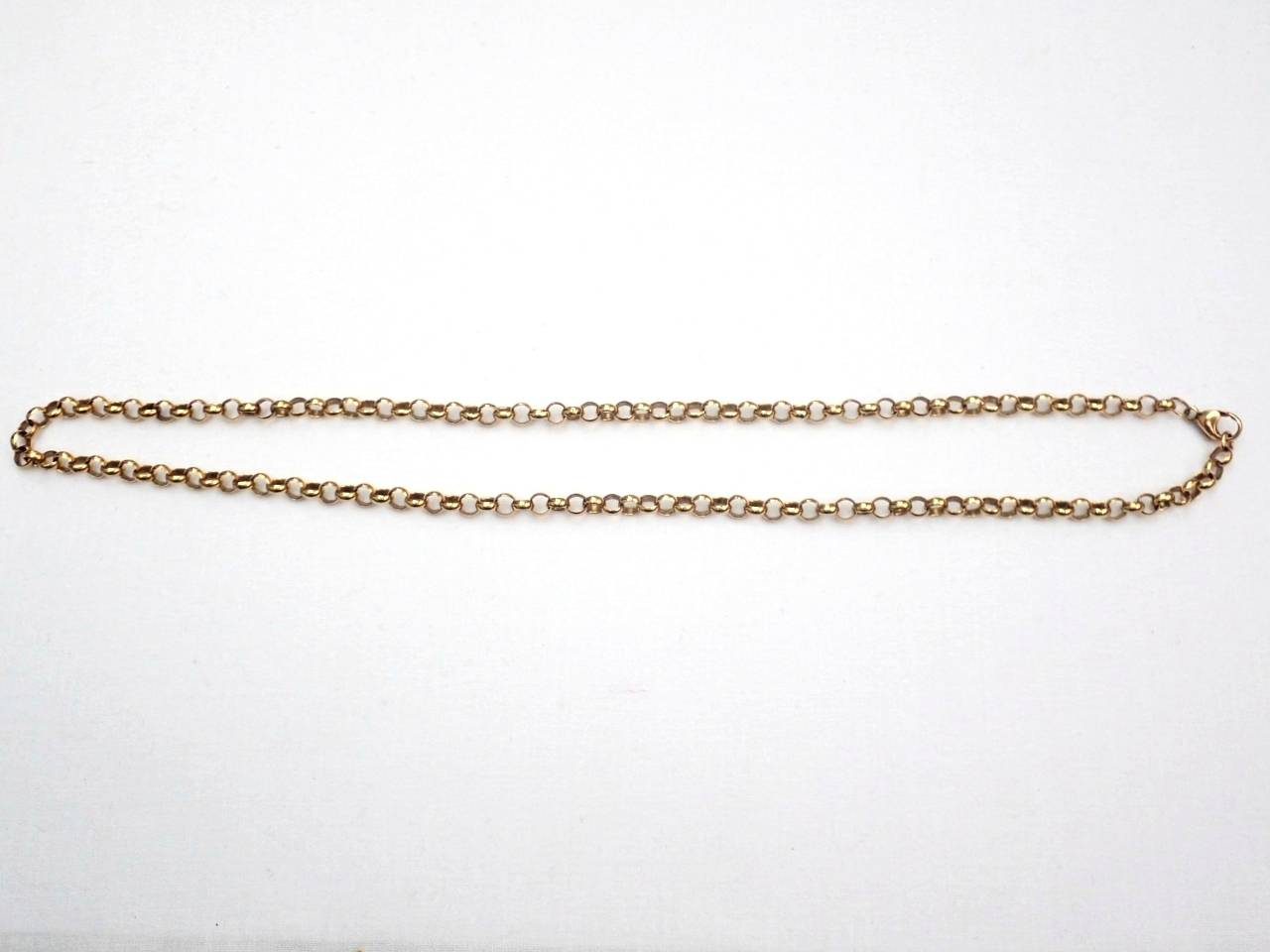 AA000979 - 9ct Yellow Gold Belcher Rolo chain 16.3gms 19 Inch #052