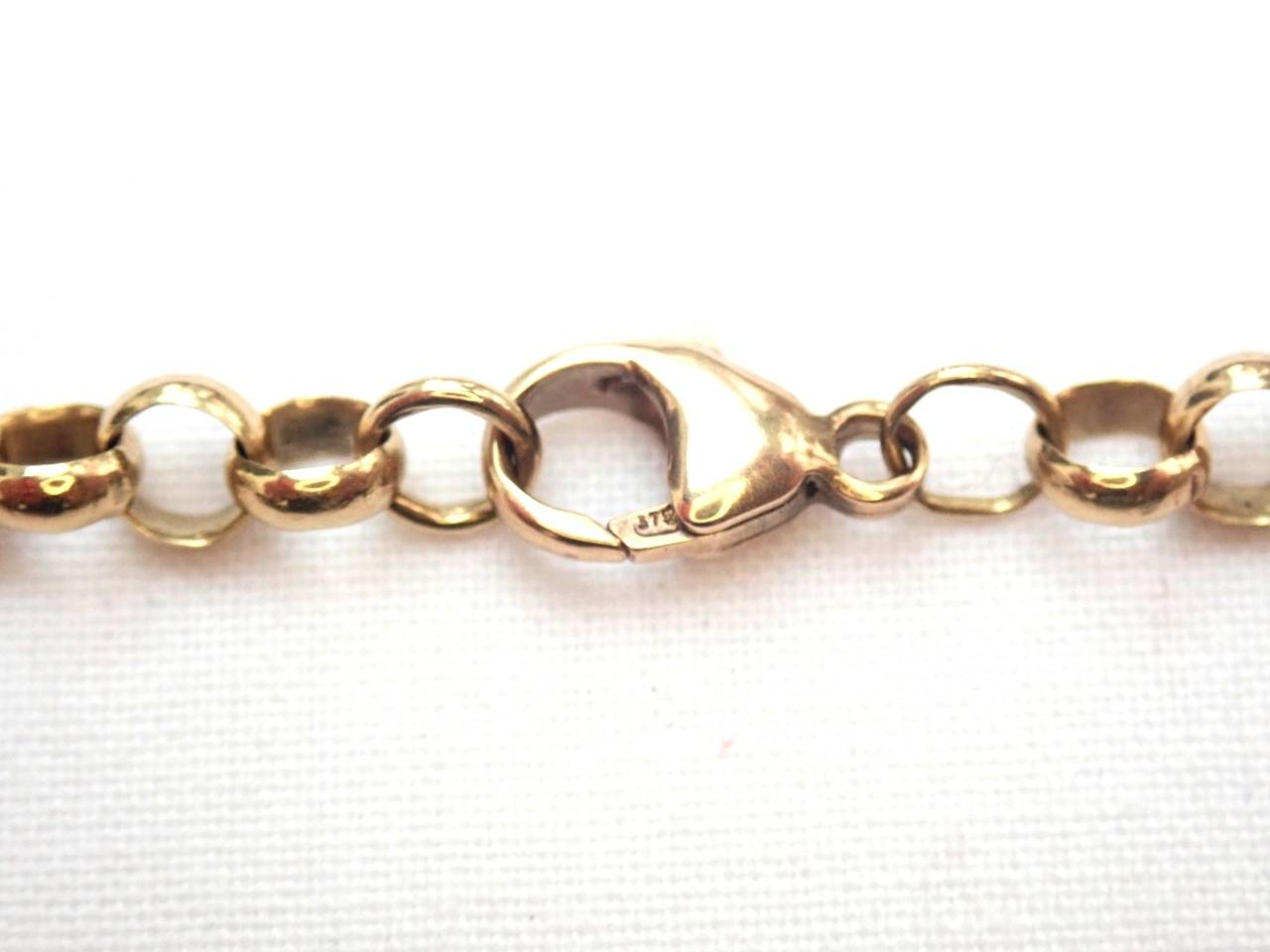 AA000981 - 9ct Yellow Gold Belcher Rolo chain 16.3gms 19 Inch #052