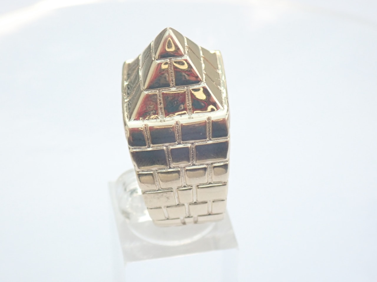 Gold Pyramid Ring