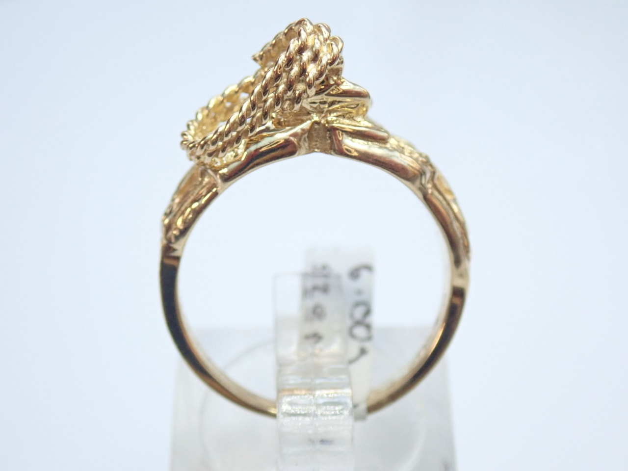 Solid Gold Saddle Ring