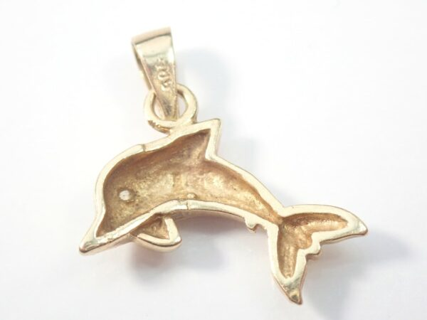 14ct Gold Dolphin Pendant 585 Charm 2.4g