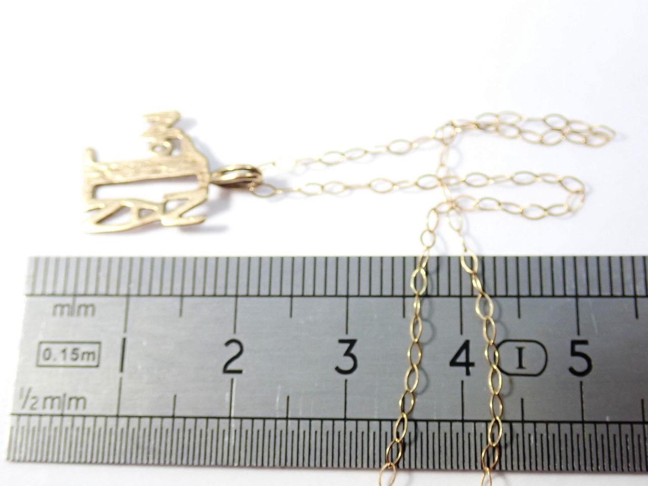 Gold No1 NAN Pendant and 16