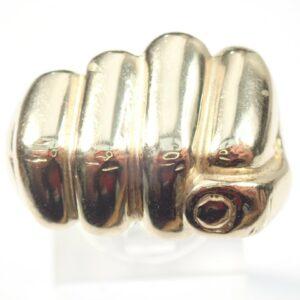 9ct Gold Fist Ring 9gms Size U1/2 10.4gms