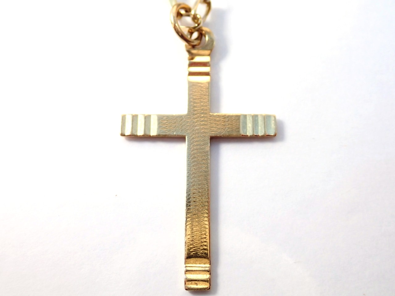 9K Gold Cross Crucifix Pendant